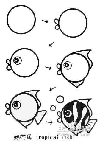 鱼的简笔画怎么画