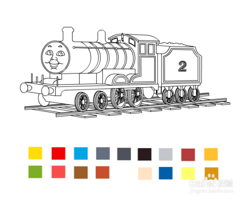 托马斯小火车填色怎么玩?图片