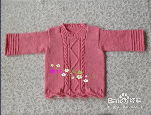 兒童毛衣外套編織的方法圖片