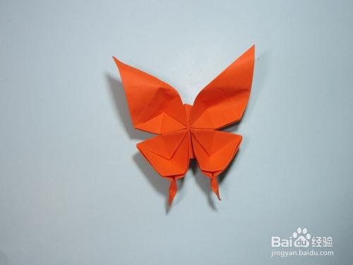儿童手工折纸蝴蝶 凤尾蝶的折法步骤图解