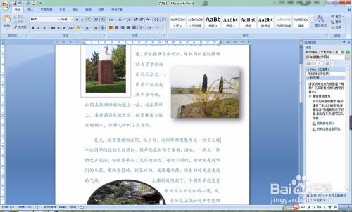 word中文字和图片排版图片