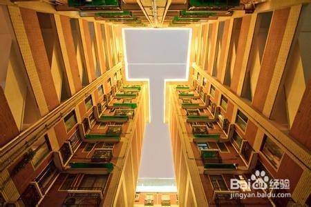 内天井式住宅由于增设天井使得栋深加大,面宽减少,可收到节约土地的图片
