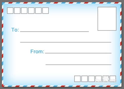 photoshop定义样式ps制作红白蓝描边图案案例设计信封通感图片