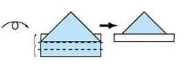 折纸帽子的折法图解图片