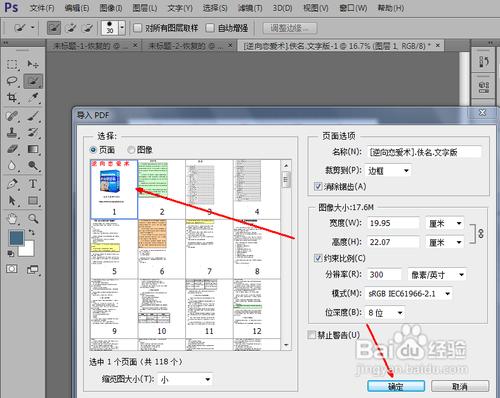 然后在导入pdf的页面中,找到你想转换成为jpg格式图片的文件,点击之后图片
