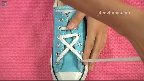 怎样系鞋带之五角星系法图片