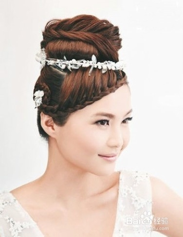 新娘编发发型图片
