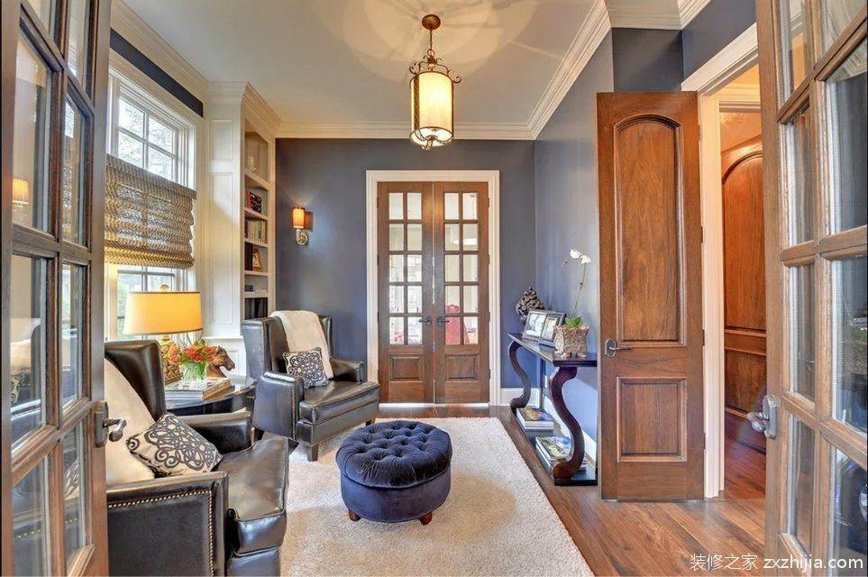 美式风格书房沙发装修效果图_装修之家装修效果图图片