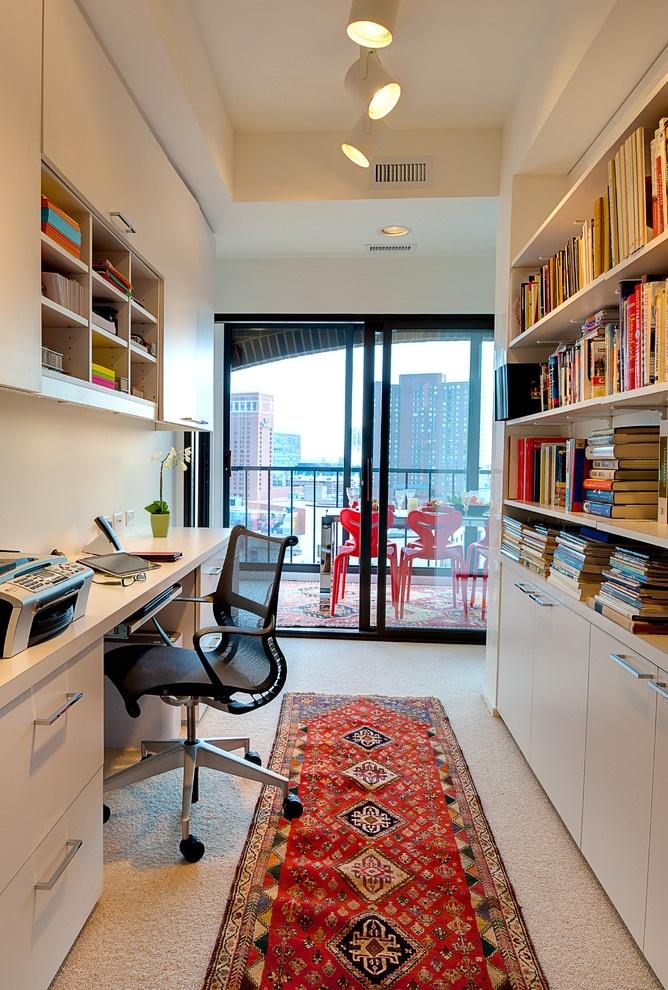 书房整体书柜装修效果图大全2013图片 高清图片