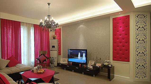 小户型客厅电视墙效果图2010热推款图片
