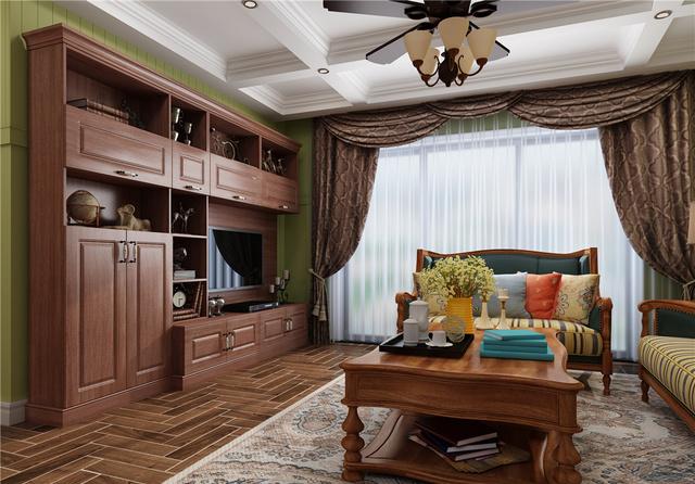 100㎡三房两厅美式装修效果图,小户型也能装出豪放范!图片