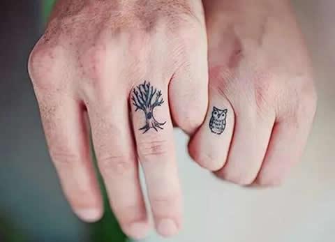 纹身图案大全女 手指分享展示图片
