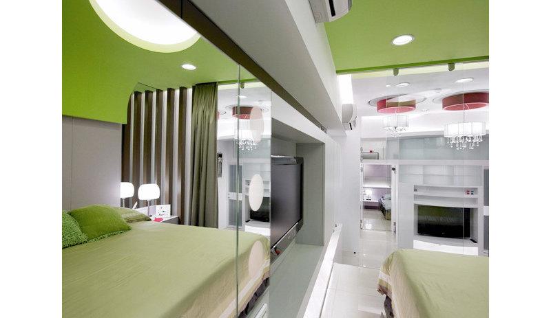 10-15万90平米简约复式装修效果图,65平2室2厅简约复式小屋装修案例图片