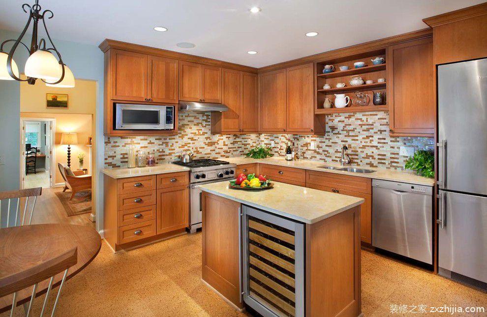 简约家居厨房整体橱柜装修效果图_装修之家装修效果图图片