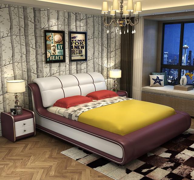 还傻傻买老式木板床?今年流行真皮床,便宜又大气,还能储物哦图片