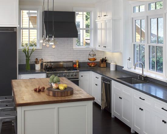 欧式风情厨房整体橱柜图片