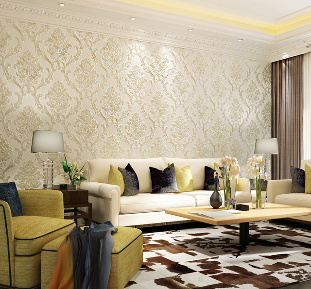 2017年新款欧式墙纸,既舒适又环保,提升家里的格调必不可少图片