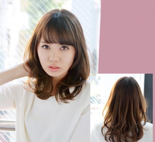 中长发空气刘海发型,空气刘海发型图片女中长发,中长发空气刘海发型图片