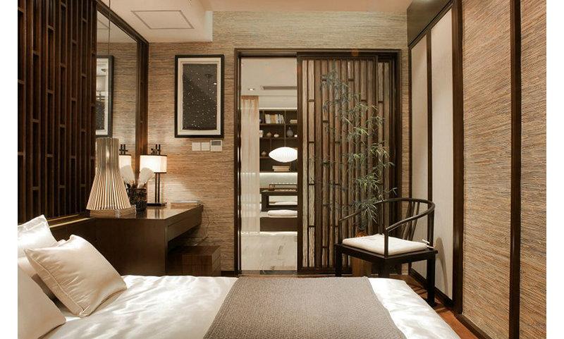 新中式风格 180平 三房装修案例效果图-齐家装修网图片