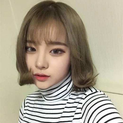 韩国发色2017图片短发,短头