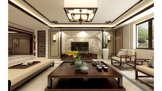 新中式家装效果图图片