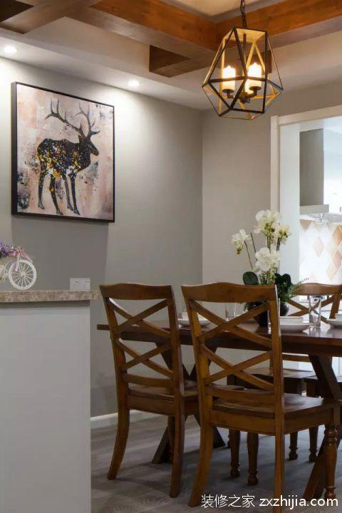 美式乡村餐厅客厅装修效果图_装修之家装修效果图