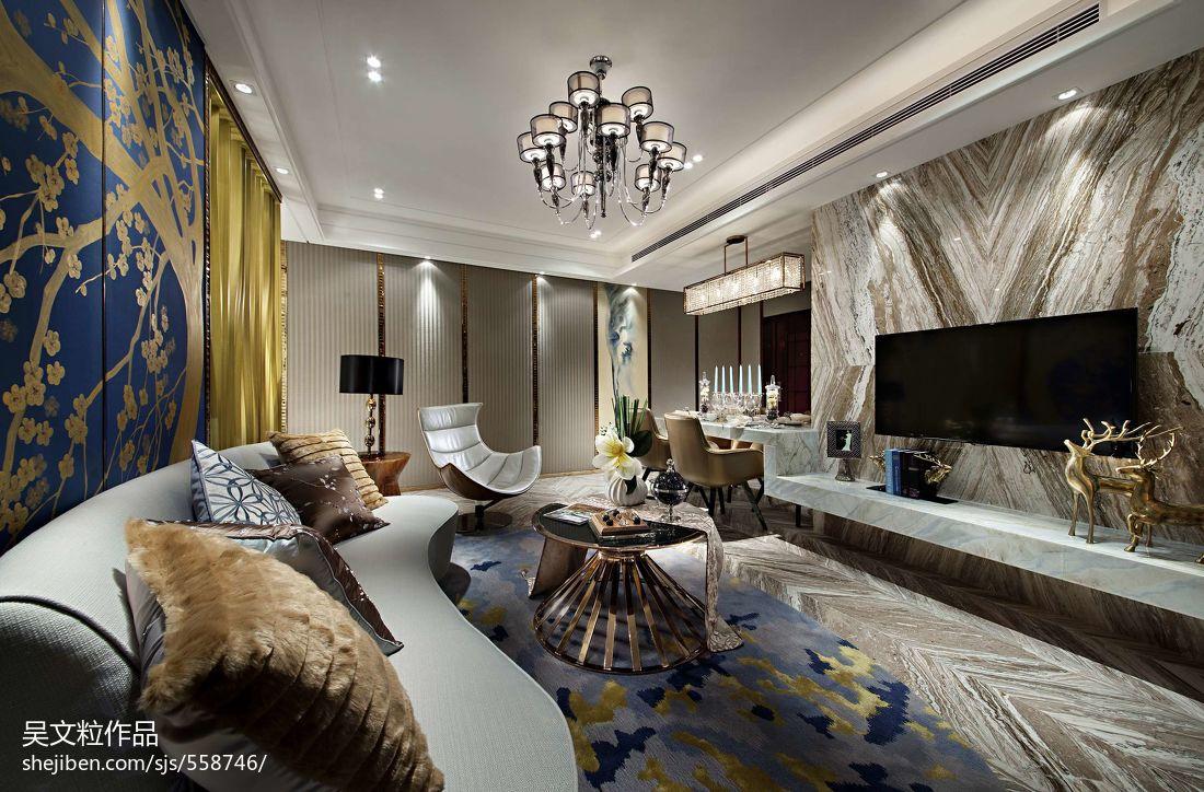 现代风格客厅影视墙装修效果图大全2013图片 高清图片