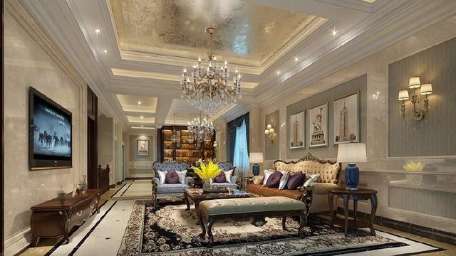 金科王府现代欧式610平米别墅装修设计效果图图片