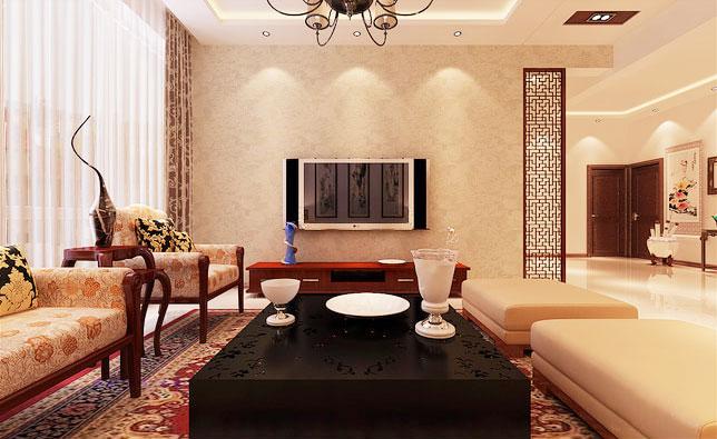 12个现代中式客厅装修效果图 古典式时尚图片