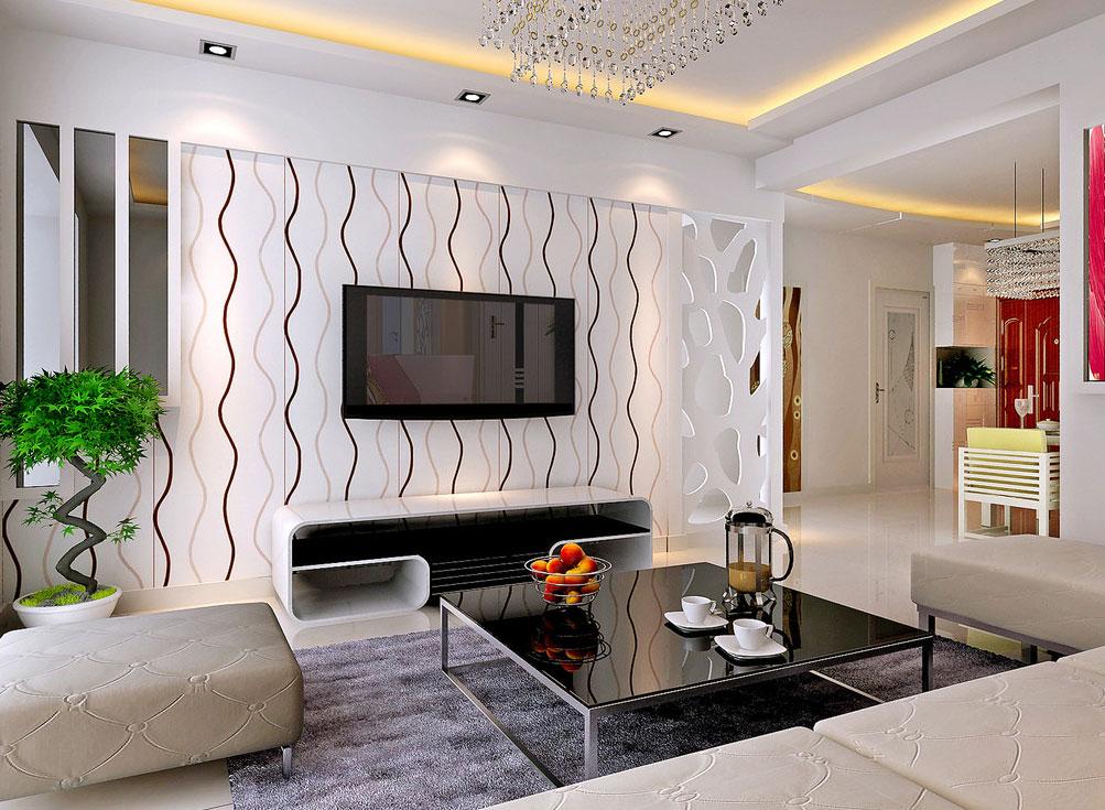 客厅电视墙效果图设计欣赏图片