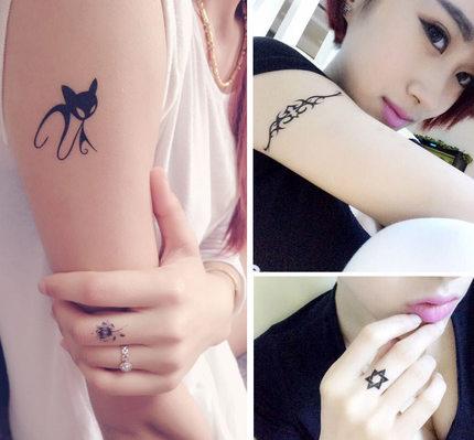 有一种后悔药叫纹身贴,时尚又逼真,女人味十足!图片图片