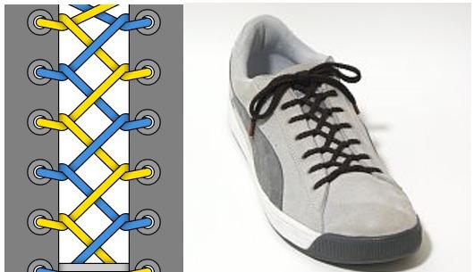 11种系鞋带窍门,让你的鞋子酷炫吸睛,最后一种简直了图片