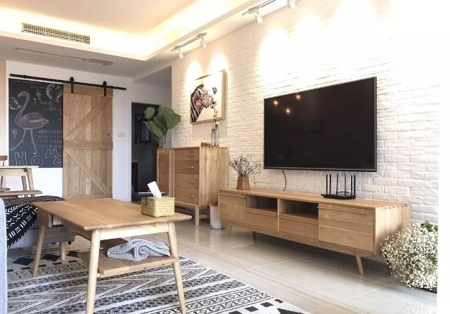 六款年轻人自己设计的北欧 简约风格电视背景墙图片