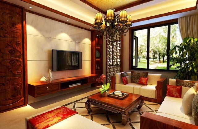 160㎡中式风格装修,沉稳大气的中式风格图片