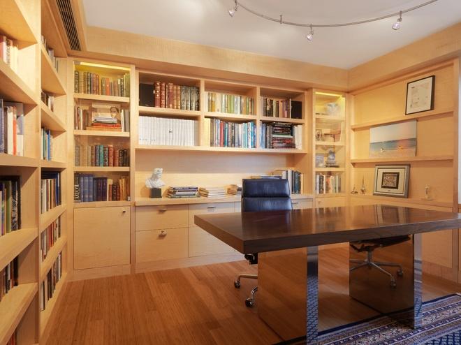 2013现代风格别墅时尚家居书房书架书柜书桌椅子装修效果图高清图片