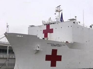 """美国海军医疗船""""仁慈号"""""""