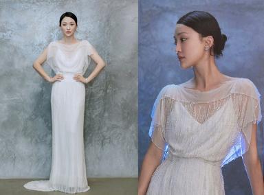 周迅戴花朵耳环灵气动人 穿一袭白色珍珠礼裙优雅大气