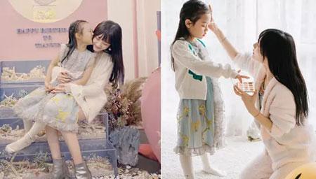 李小璐为7岁甜馨庆生