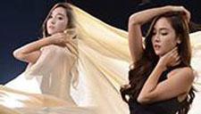 Jessica裸妆拍写真 薄纱缠身胴体隐现