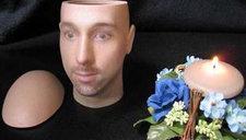 奇葩!3D打印头颅骨灰盒 复制死者形象