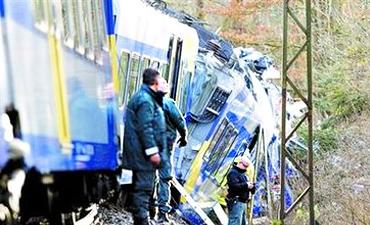 德国南部发生火车相撞事故