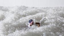 美国博物馆用百万塑料球建起人造海滩