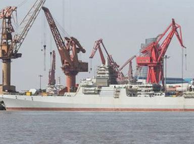 振奋!中国055大驱首舰即将海试