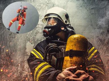 硬核!消防员3000米高空穿梭