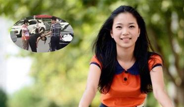 少女骑车撞轿车
