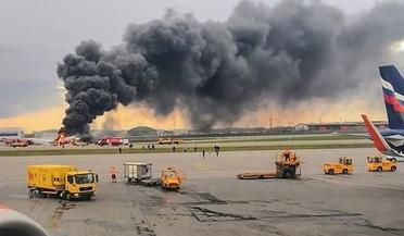 俄羅斯客機起火迫降致41人遇難