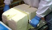 老牌饼干工厂特色流水线,手工切割100斤黄油砖,舒适!解压!
