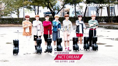【topstarnews】 160909 KBS音乐银行上班路(宇宙少女,NCT DREAM)