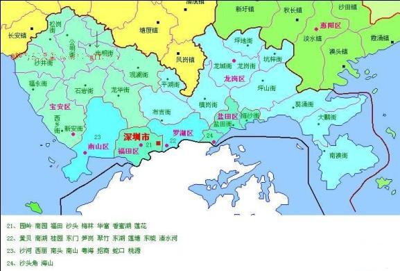 深圳最著名的景点地图