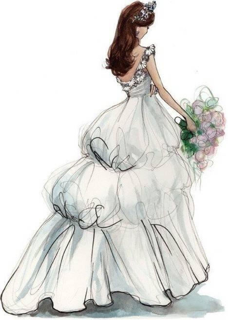 插画:婚纱